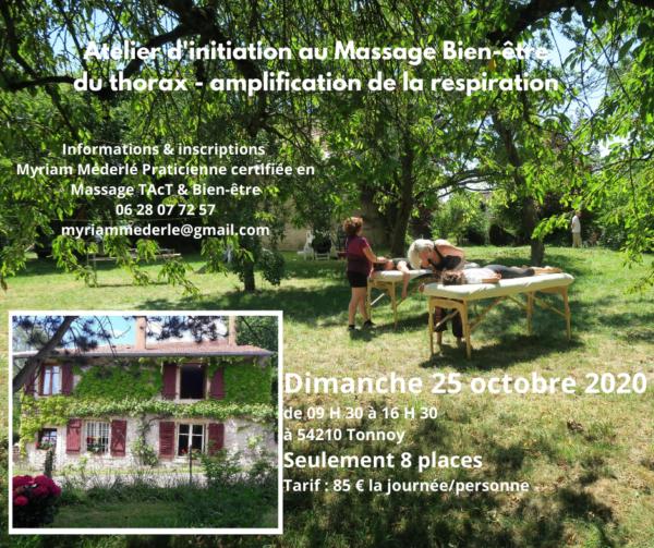 🌿Atelier d'initiation Massage Bien-être du thorax & Amplification de la respiration 🌿